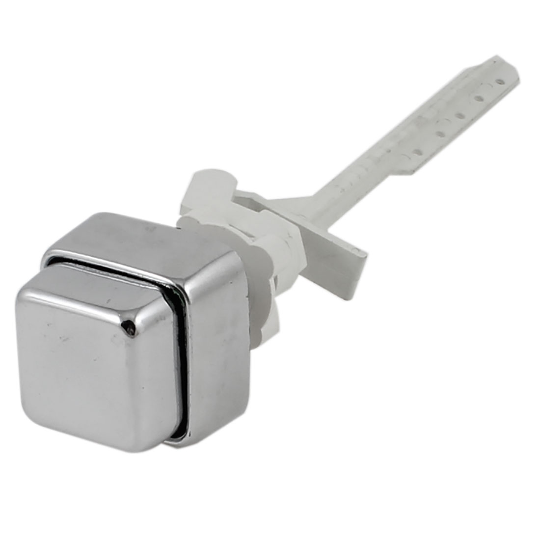 "1/4"" Thread Chrome Plated Plastic Square Head Toilet Drain Side Push Button Flush Valve"