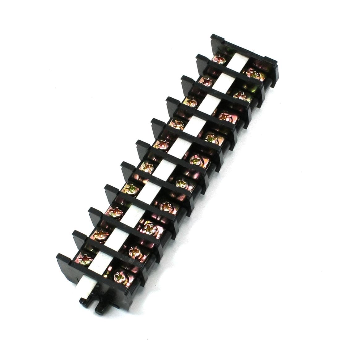 30A 600V Double Rows 10 Position Connector Strips Terminal Blocks