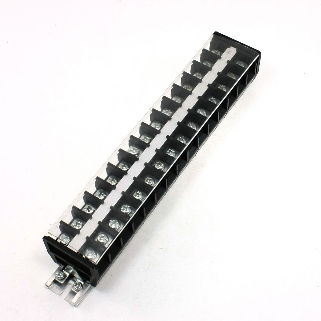 660V 30A 15 Positions Rail Mount Covered Screw Terminal Block TD-3015