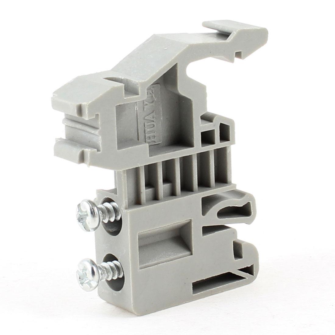 Gray 500V 17.5A IEC947-1 1.5mm2 Screw Clamp Terminal Block UK-1.5N