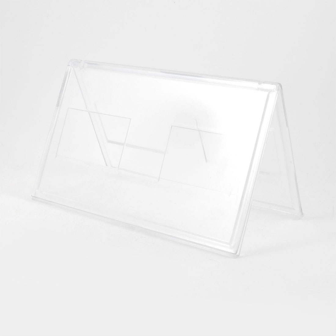 18cm x 10cm Cards Holder Clear Plastic Meeting Card Stand