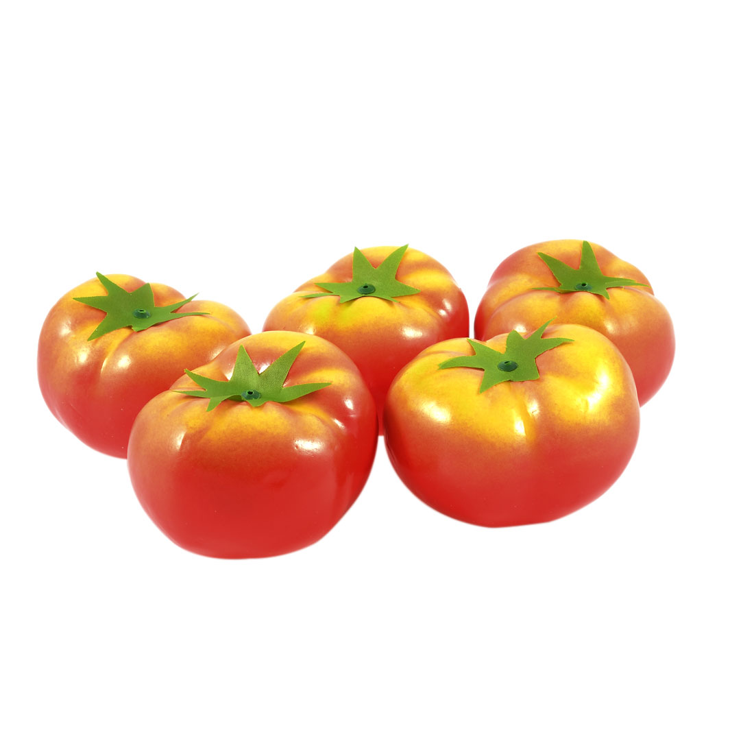 5 Pcs Living Room Red Handmade Craft Foam Tomato Fruit Desk Decoration