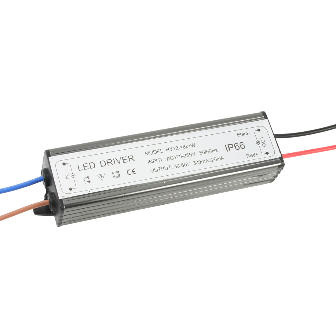 AC175-265V 50/60Hz Input 30-60V 300mA Output Polar 12-18*1W LED Power Driver
