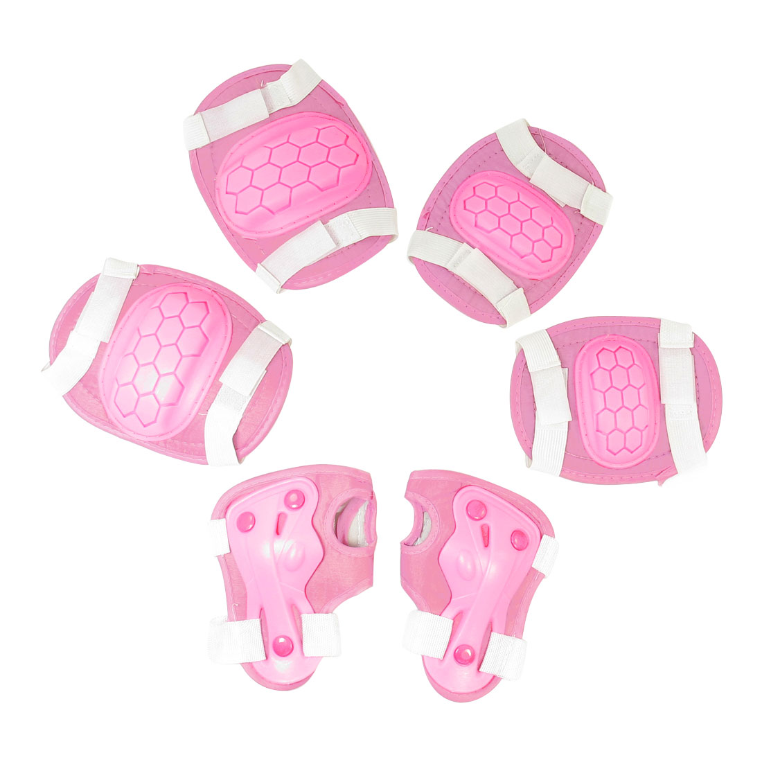 Skiting Pink Band Arch Design Palm Knee Elbow Support Protector for Children