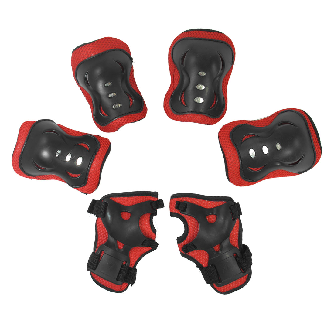 Children Skiting Band Arch Shape Palm Knee Elbow Support Protector Red Black