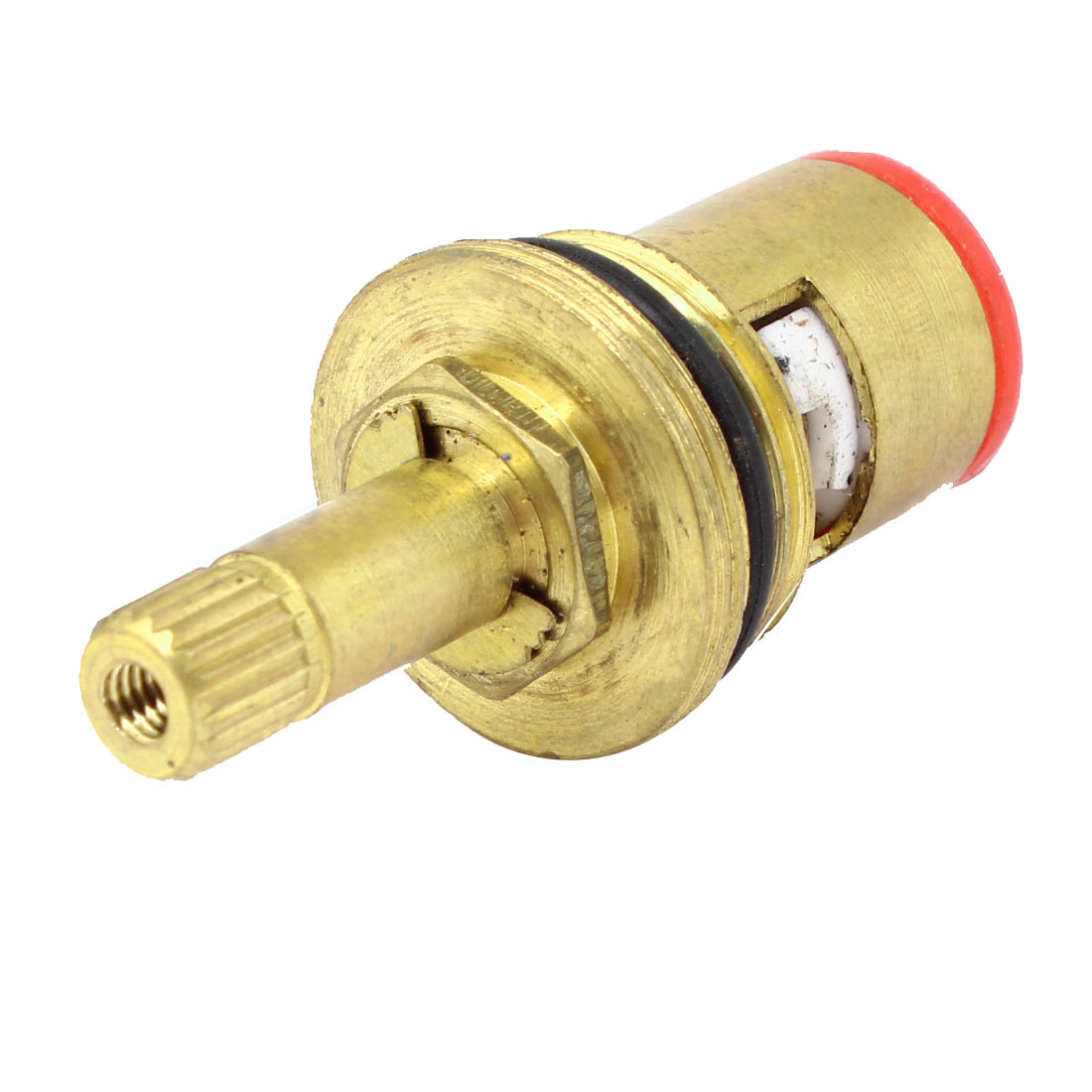 Red Rubber Bottom Home Bathroom Brass Water Faucet Valve Core