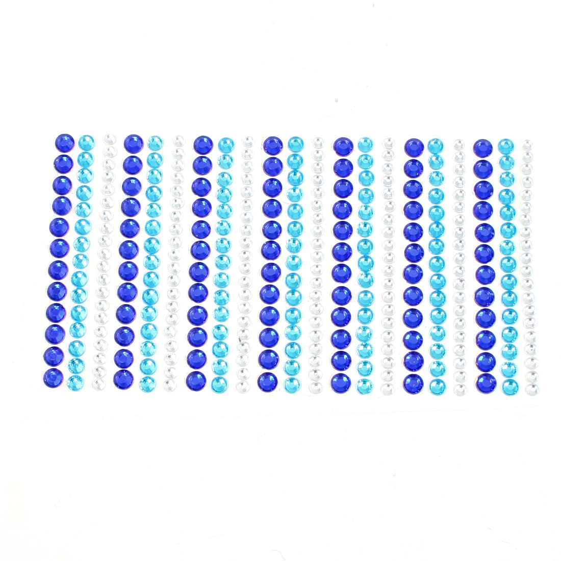 Car Vehicles Glitter Silver Tone Blue Cyan Plastic Rhinestone Decal Sticker Sheet