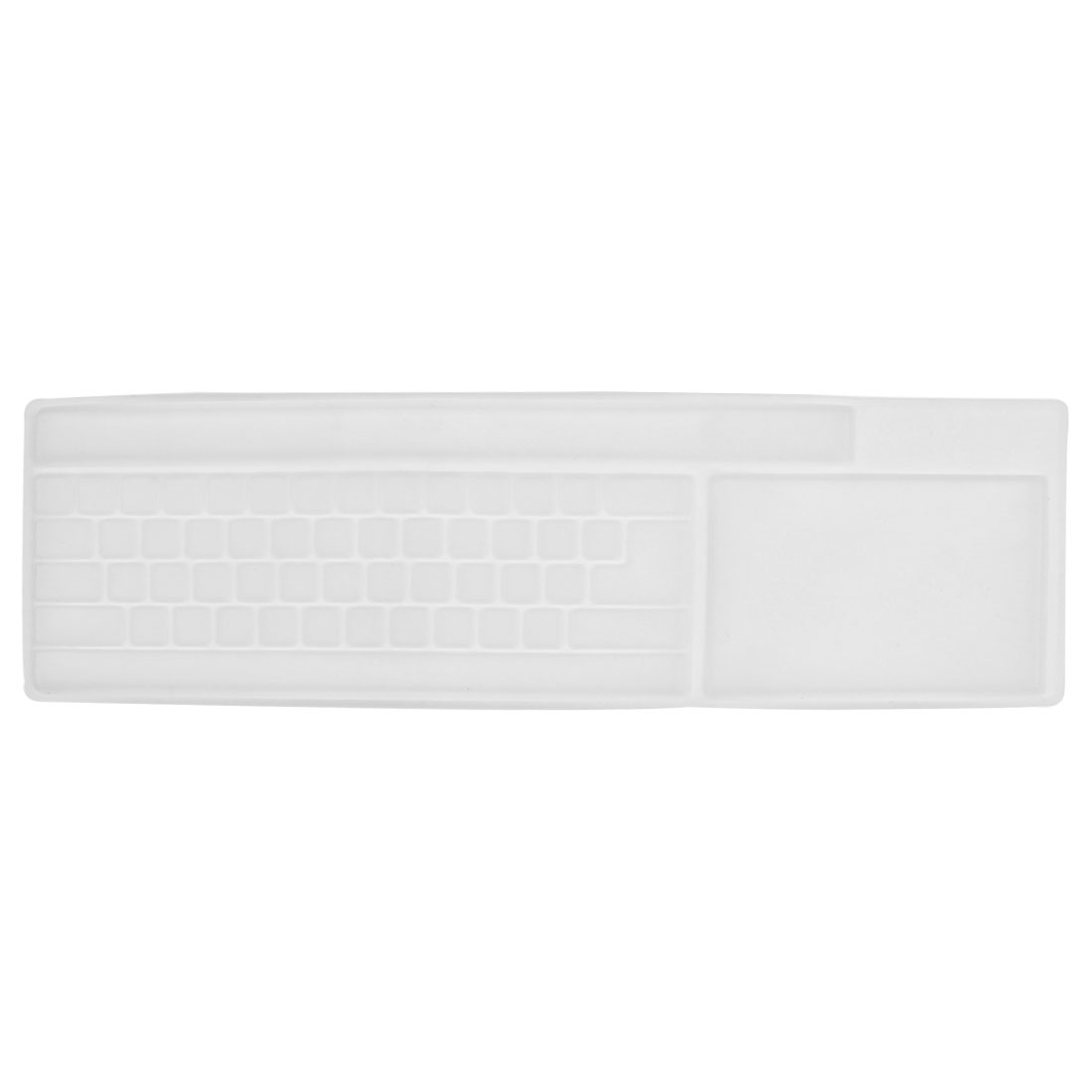 Clear White Silicone Keybord Film Protector Guard for PC Desktop Computer