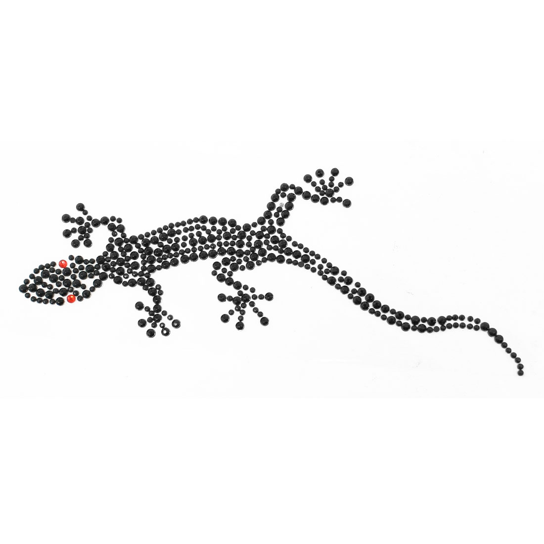 Black Plastic Rhinestone Wall Gecko Shaped Vehicle Auto Decal Sticker