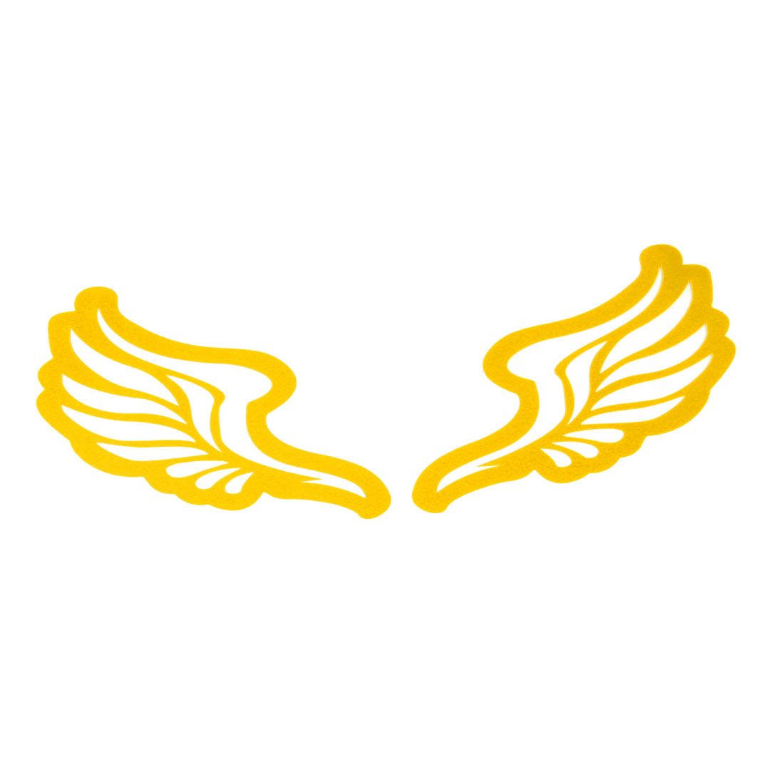 Truck Auto Plastic Wings Style Decoration Reflctive Sticker Decal Sheet Yellow