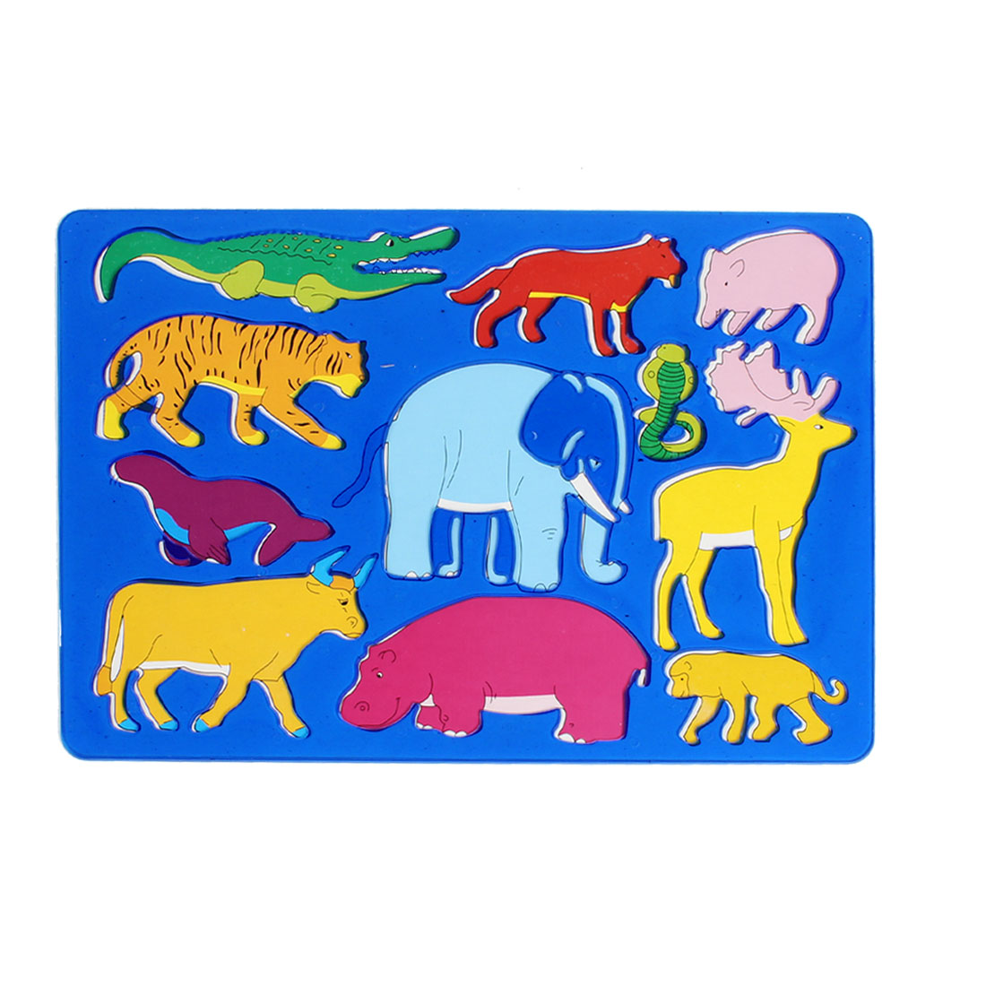 Clear Blue Plastic Elephant Tiger Deer Drawing Template for Kids
