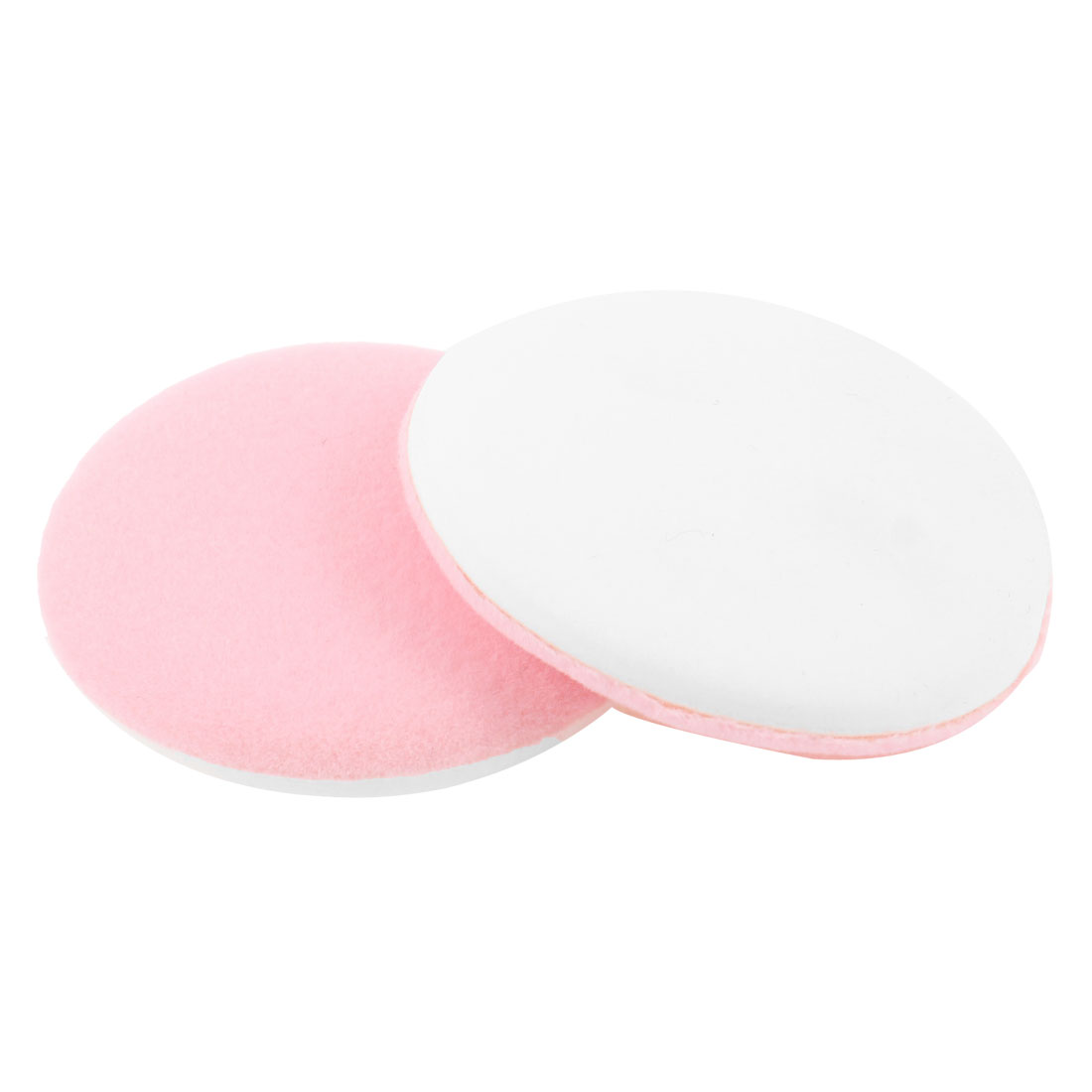 2 Pcs Women Round Face Care Powder Puff Cosmetic Makeup Sponge White Pink