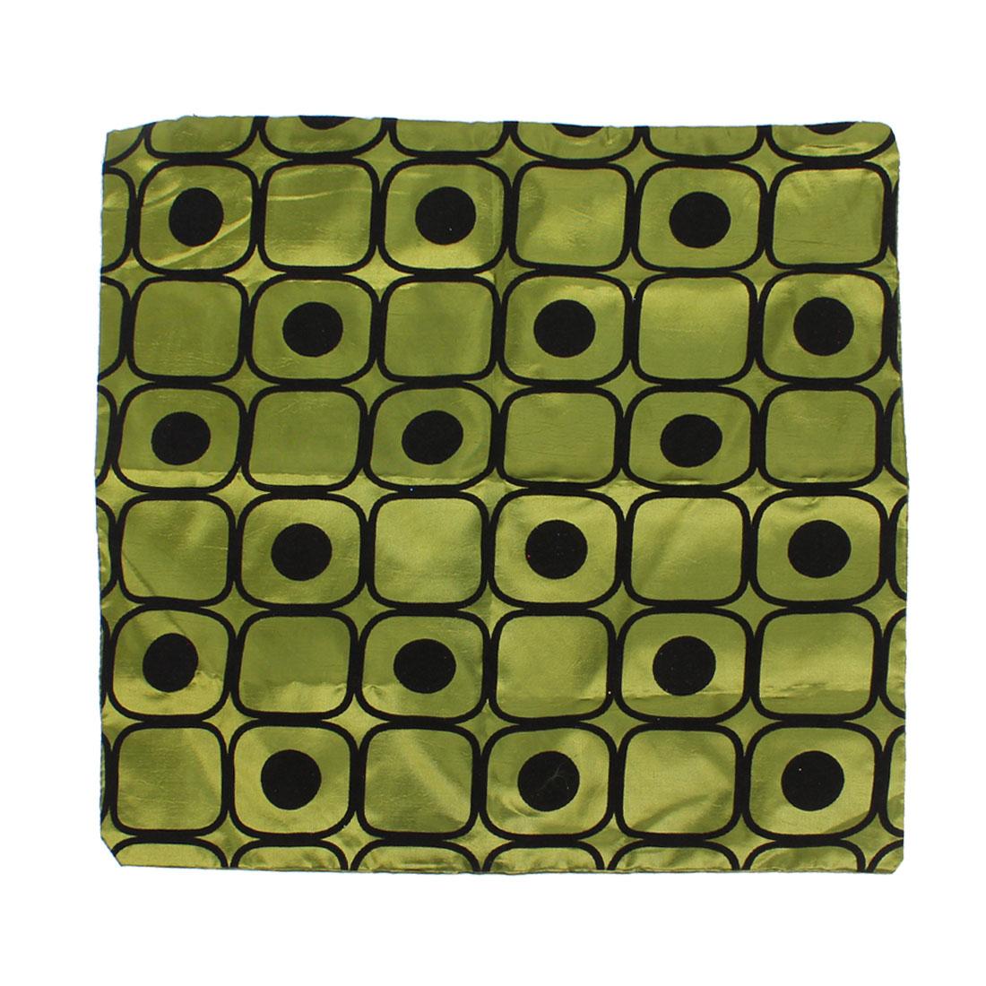 Zipper Closure Black Olive Green Flannel Nylon Pillow Cover