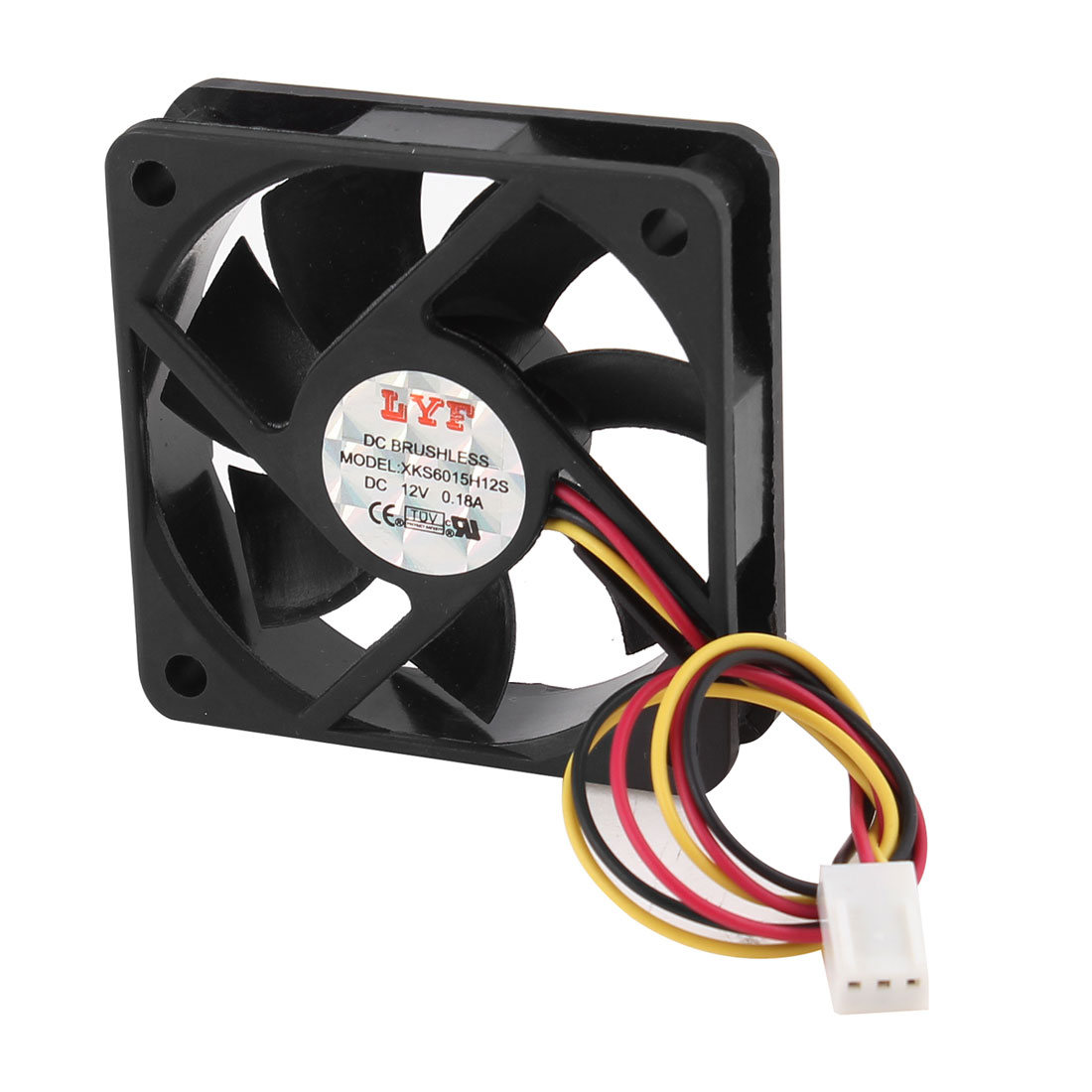 60mm x 15mm DC 12V 3 Pole Connector Brushless Computer Case CPU Cooler Fan