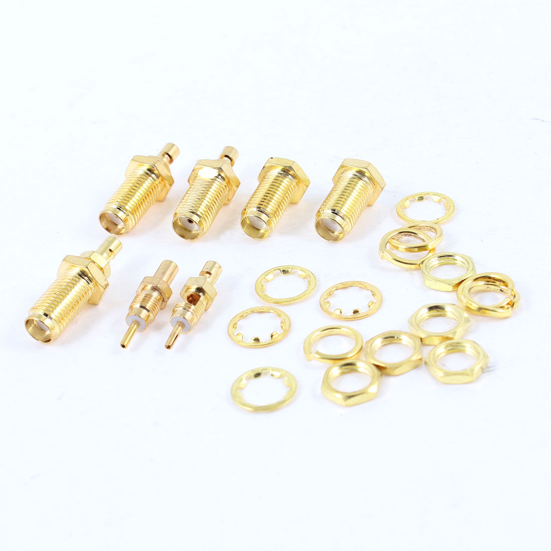 5pcs Big Hole SMA Female Center Nut Bulkhead Crimp RF Coax Connector