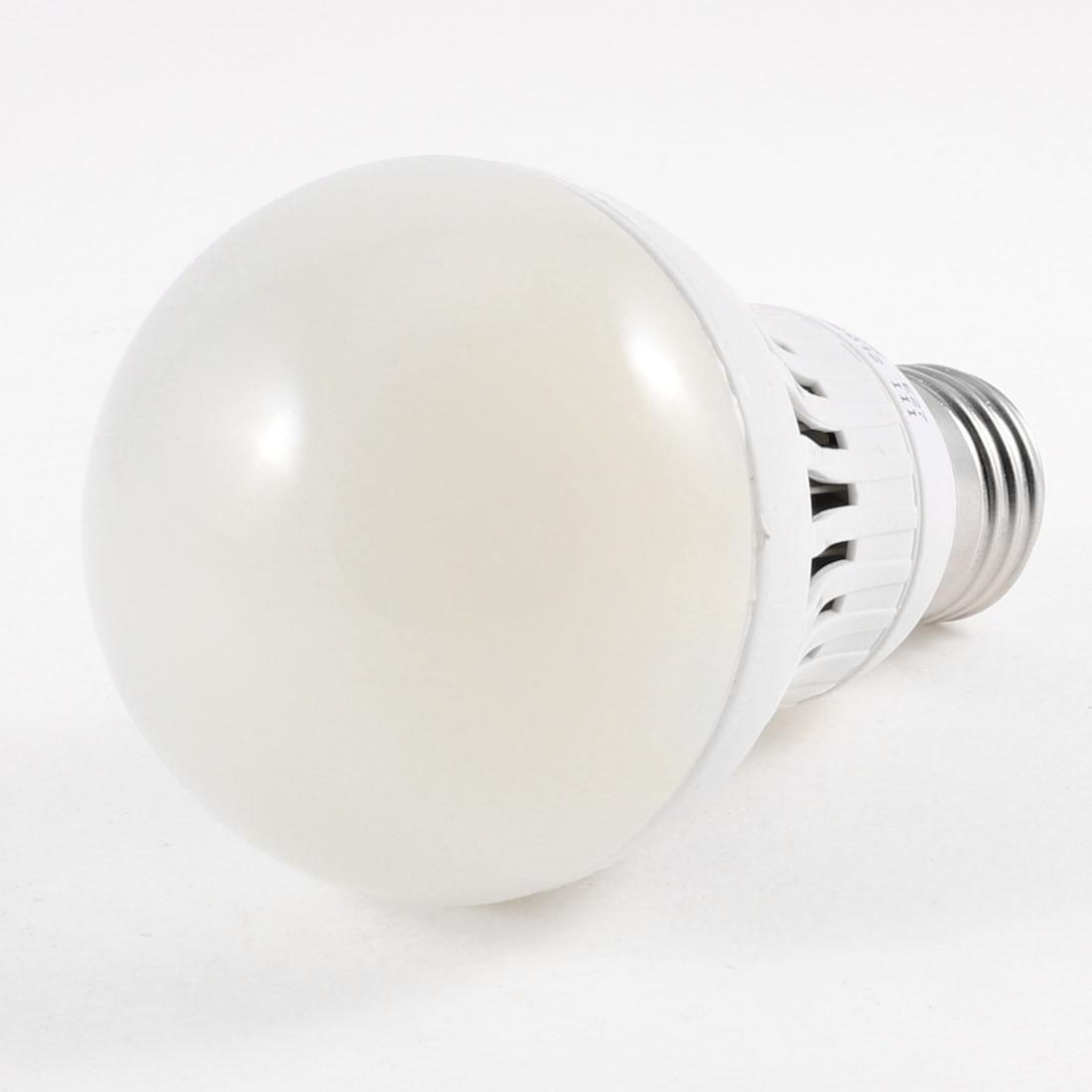 E27 Socket Energy Saving White LED Ball Bulb Lamp AC 220V 8W 6500K