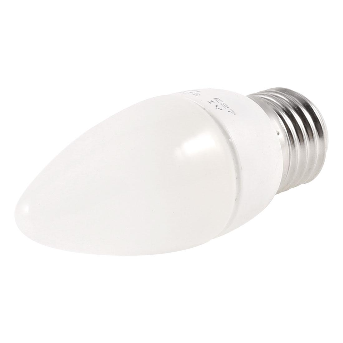 Bathroom E27 Screw Base 3000K Yellow LED Light Candle Bulb 2W AC 220V