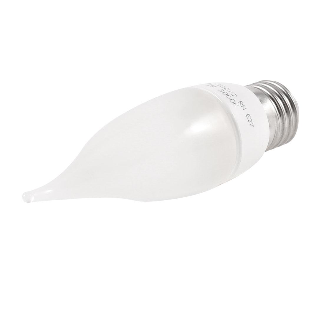 E27 Socket Energy Saving Yellow LED Pulled Tail Bulb Lamp AC 220V 2W 3000K