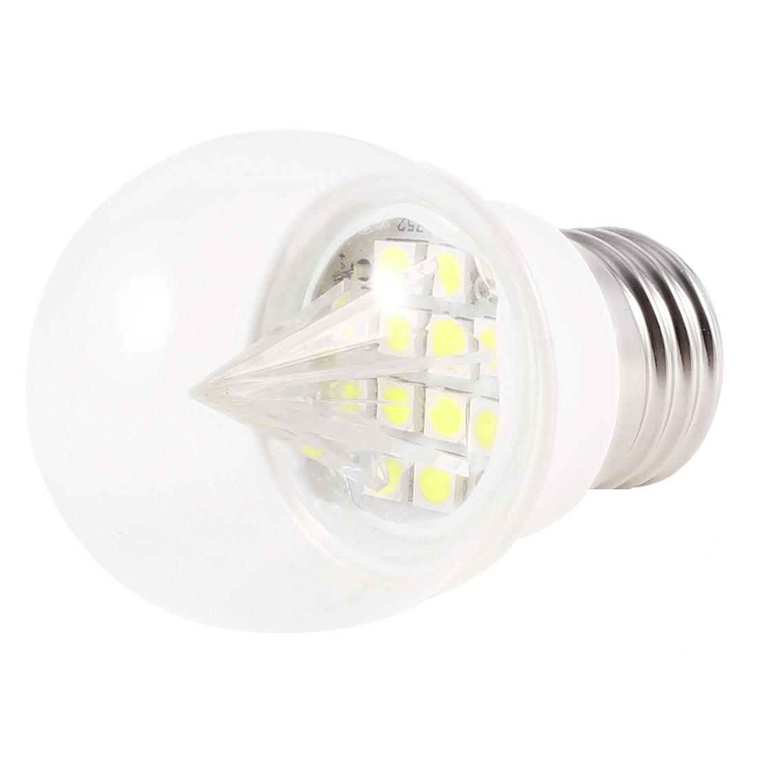 E27 Screw Base Energy Saving White 12 LEDs Ball Bulb Lamp AC 220V 2W 6500K