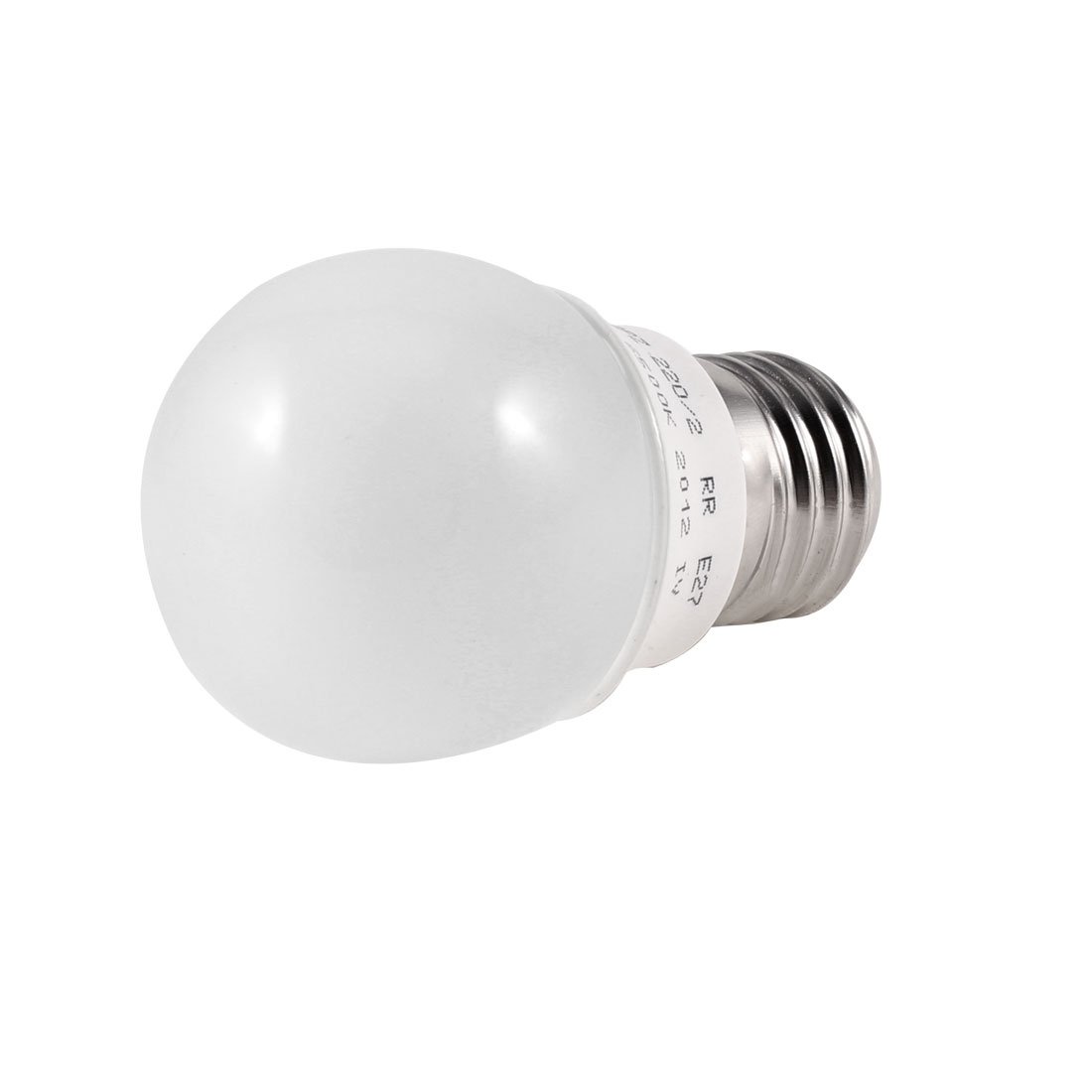 Bathroom 2W 6500K 220V E27 Socket White LED Globe Ball Bulb 45mm Dia