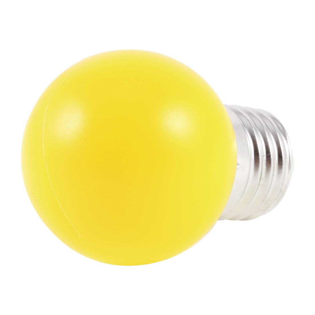 160-250V 1W Decorative Energy Saving Plastic Housing Yellow LED Lamp E27 Bulb