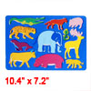 Clear Blue Plastic Elephant Tiger Deer Drawing Template for