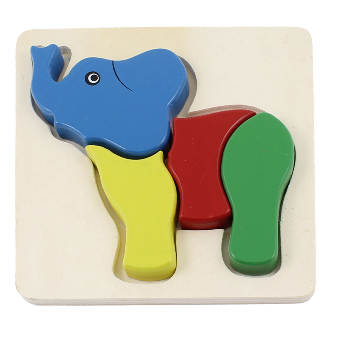 Colored Elephant Model Woodcraft Construction Kits Toy