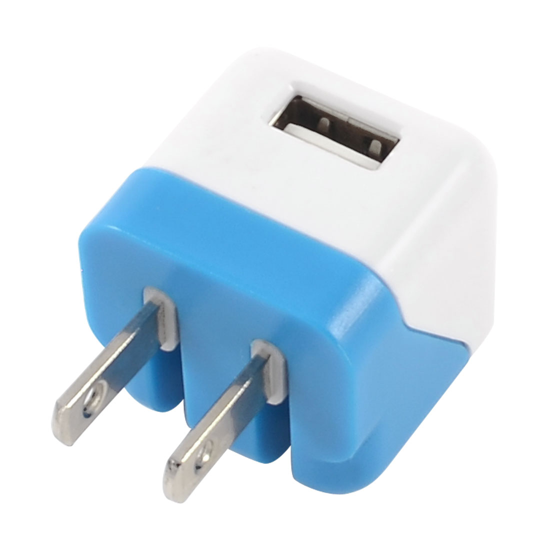 AC 100-240V US Plug to USB 2.0 Charger Adapter Blue White for Phone