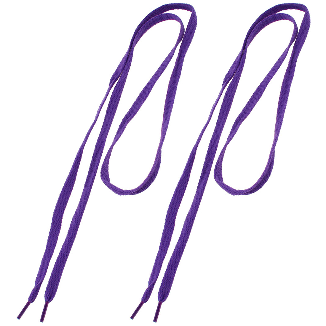 Plastic Tip Nylon Flat Shoelaces Purple 114 cm Length 1 Pair
