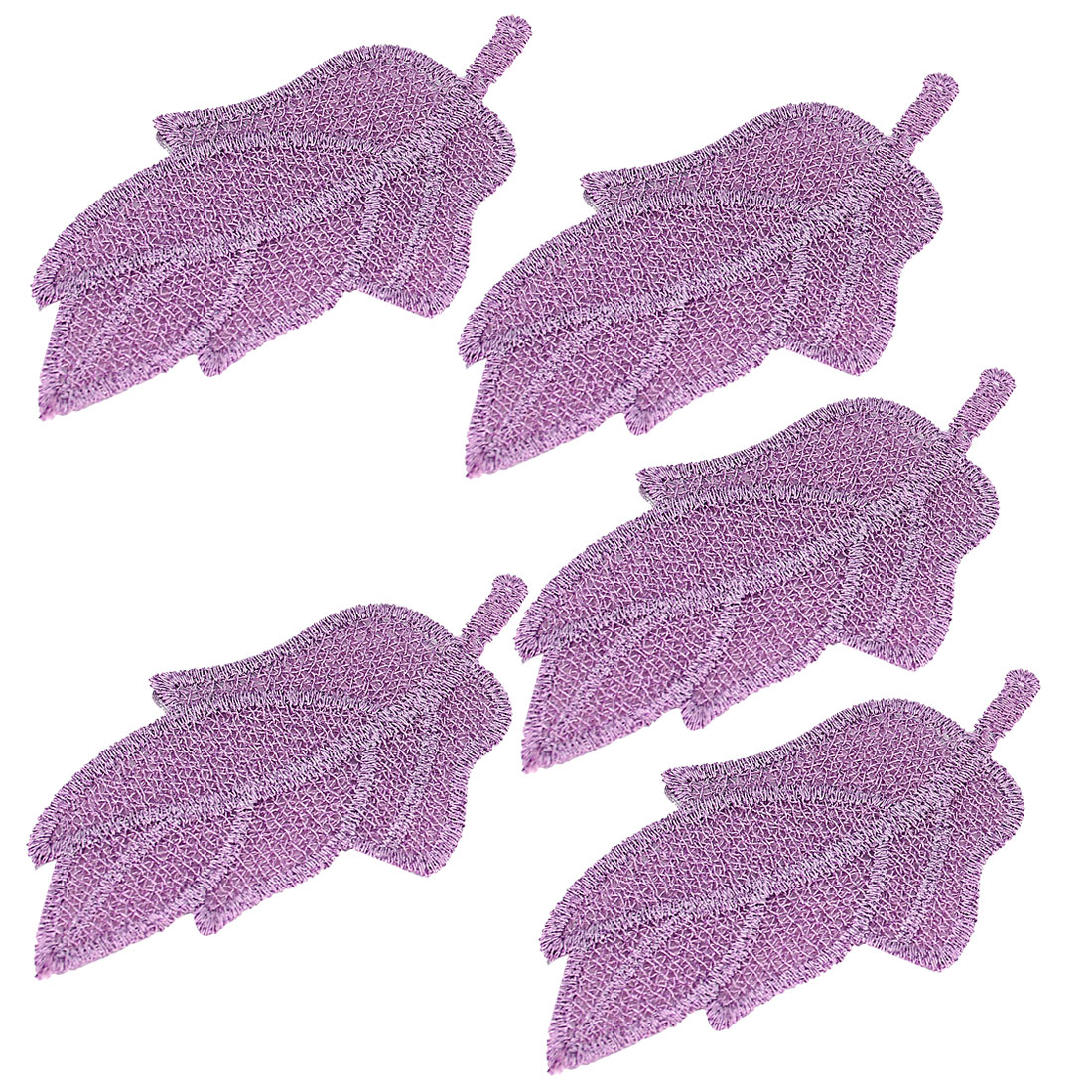 5 Pcs Portable Purple Nylon Leaf Shape Foretop Hair Posted Magic Sheets