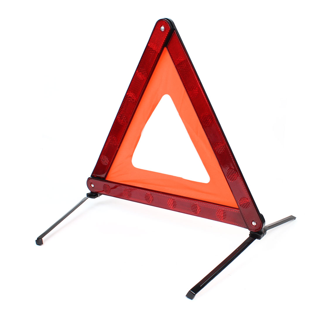 Red Black Road Block Safety Warning Reflection Triangle