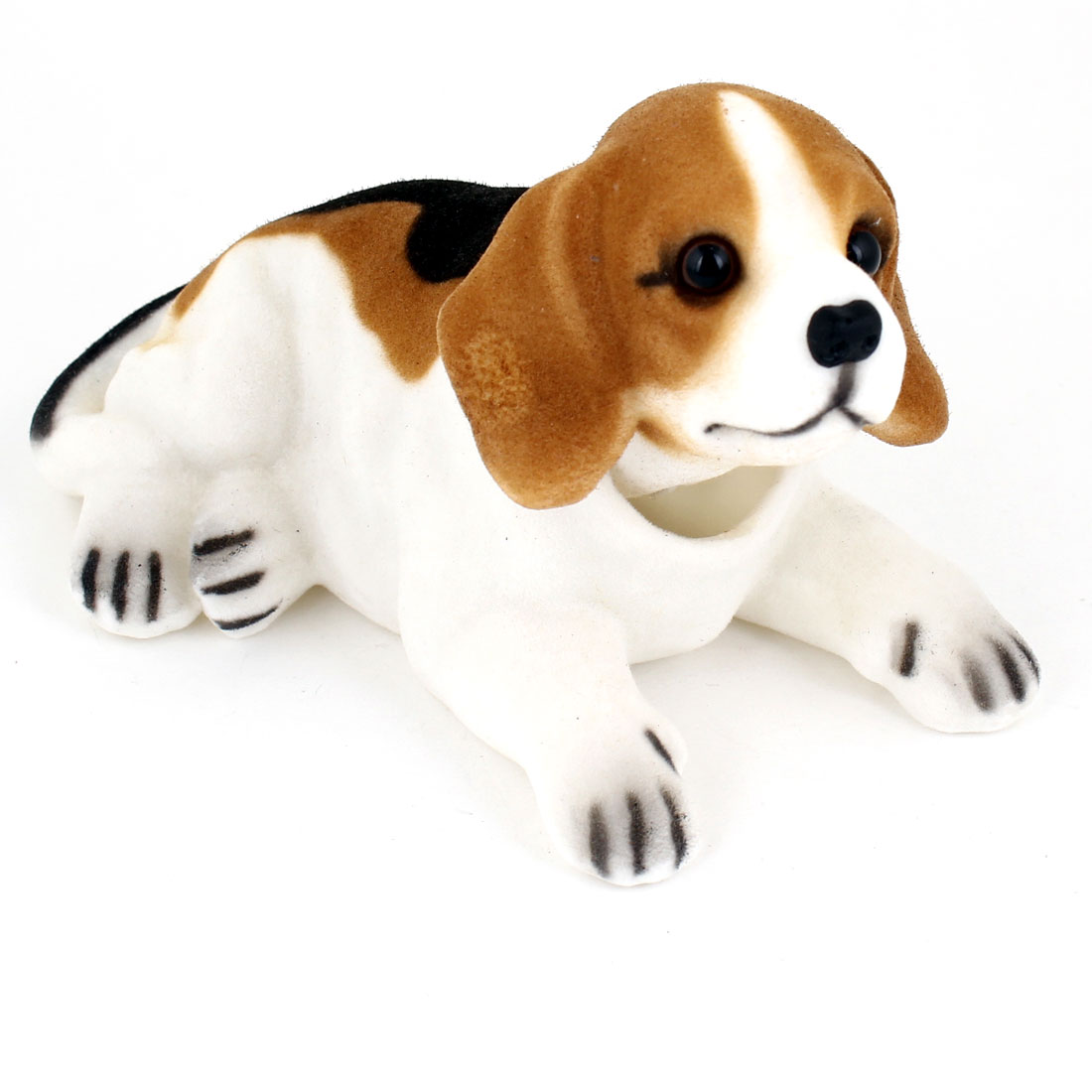 Car Decoration Bobbing Head Beagle Shaped Nodding Dog Black White Brown