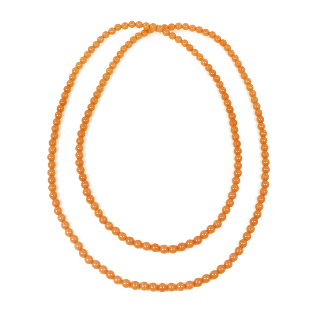 Plastic Orange 0.6cm Dia Beads Detail Clothes Necklace for Woman Women