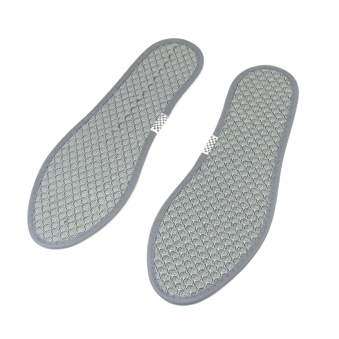 Brown Gray Pair Nylon Non Woven Fabric Insoles Shoe Pads US Size 7 for Man