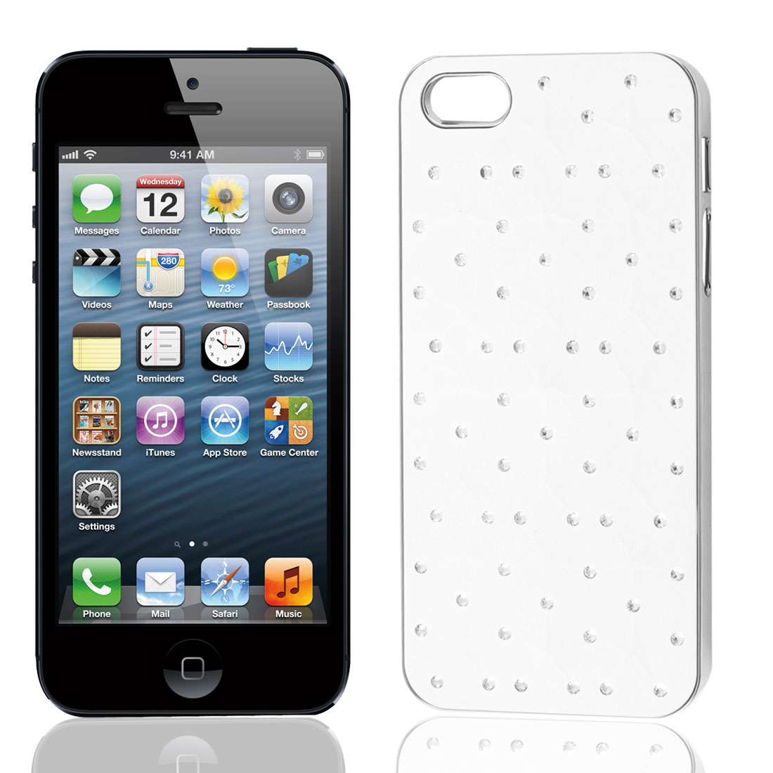 White Stars Hard Back Case Cover for Apple iPhone 5 5G 5th 5Gen