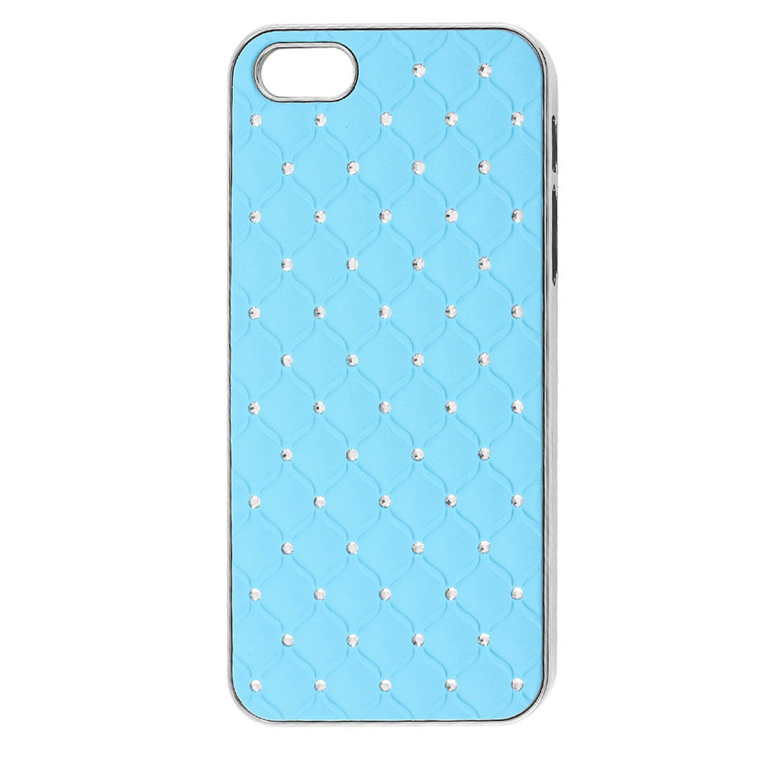 Sky Blue Glittery Bling Rhinestone Hard Back Case Cover for iPhone 5 5G 5th Gen