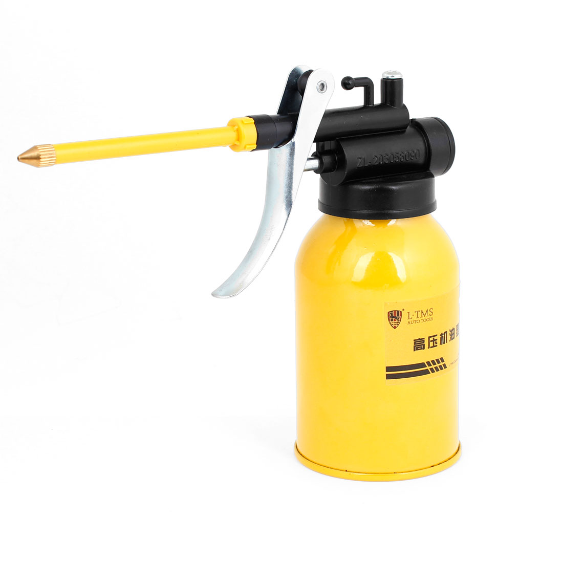 250ML Capacity High Pressure Feed Handheld Compressed Air Oil Gun Bottle Yellow