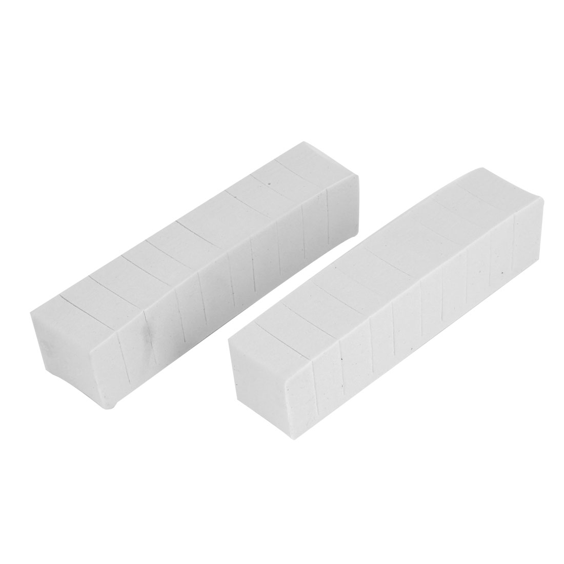 2 Pcs Adhesive Back White Foam Door Guard Protectors Bar Sticker for Car