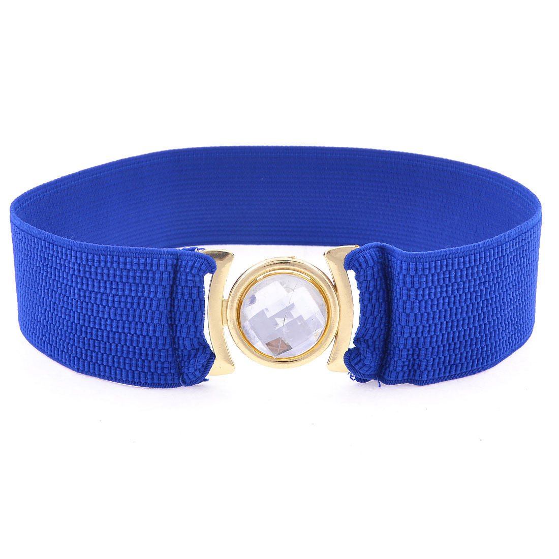 4.9cm Wide Interlock Buckle Stretch Dark Blue Corset Belt Waist Band for Ladies