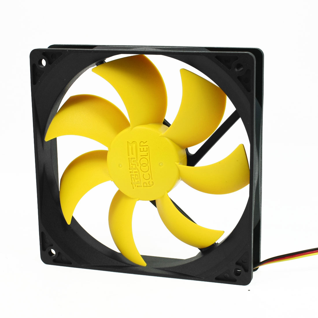 12cm Hydramatic Motor Connector Yellow Flabellums PC Case Fan Cooler