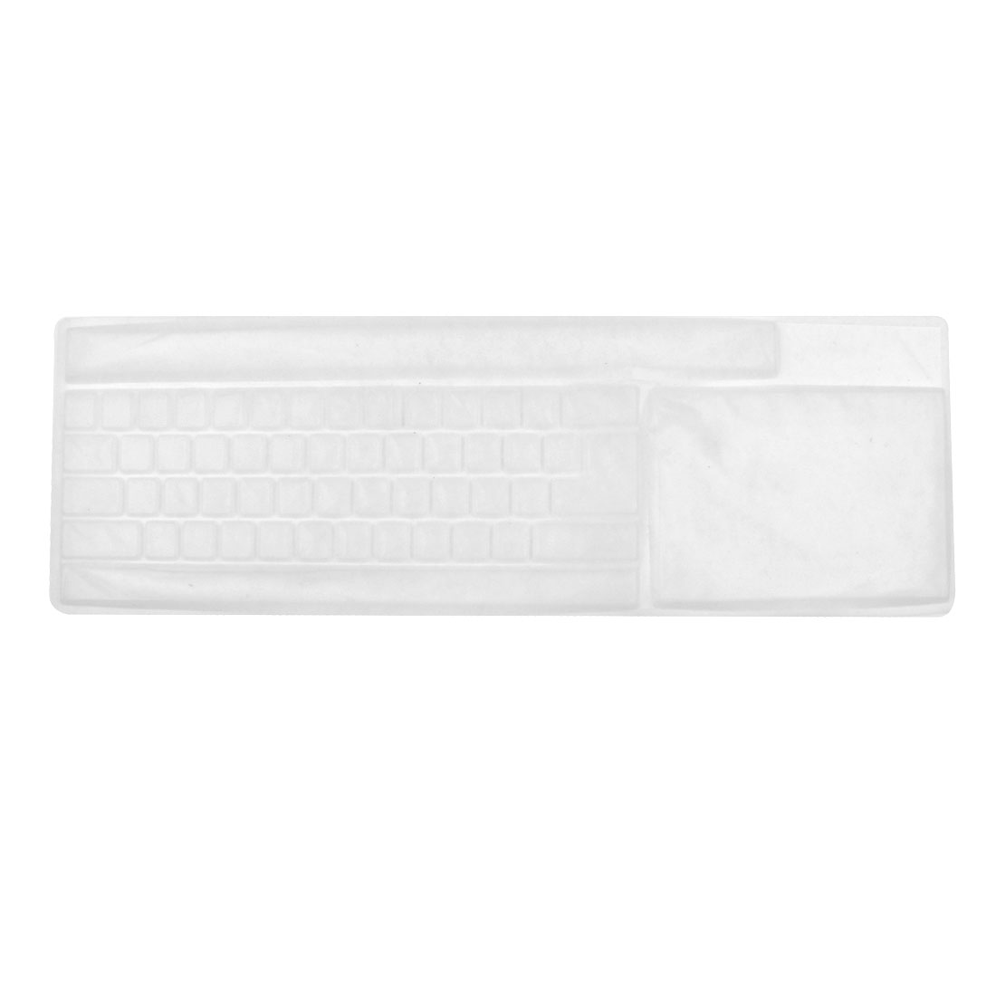 Keyboard Flexible Silicone Shield Film Shell Cover White for Desktop Computer