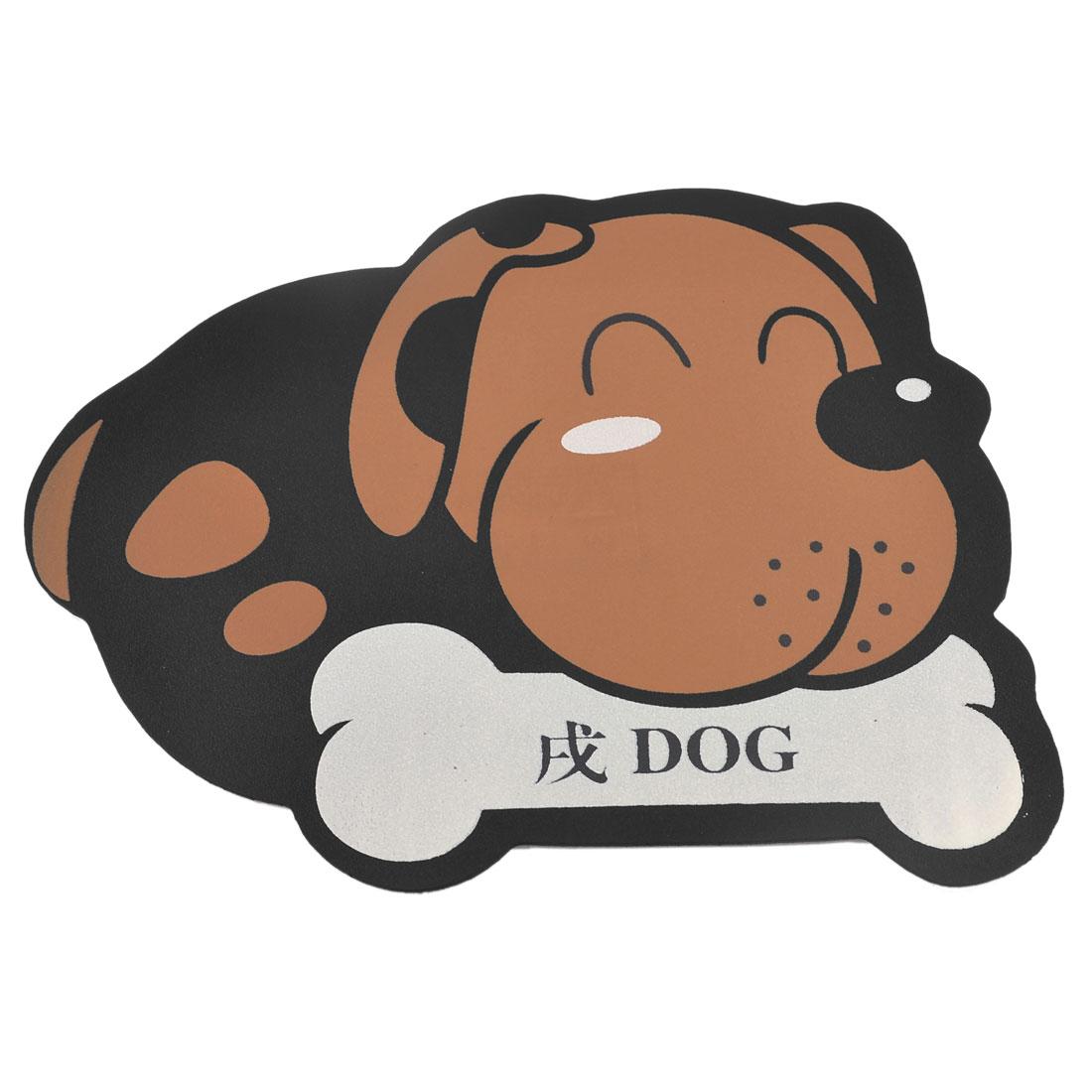 Black Brown Cartoon Dog Design Nonslip Computer Mouse Mice Pad Mat