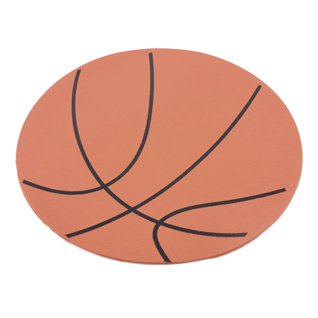 Basketball Pattern Orange Black Round Computer Mouse Mice Pad Mat