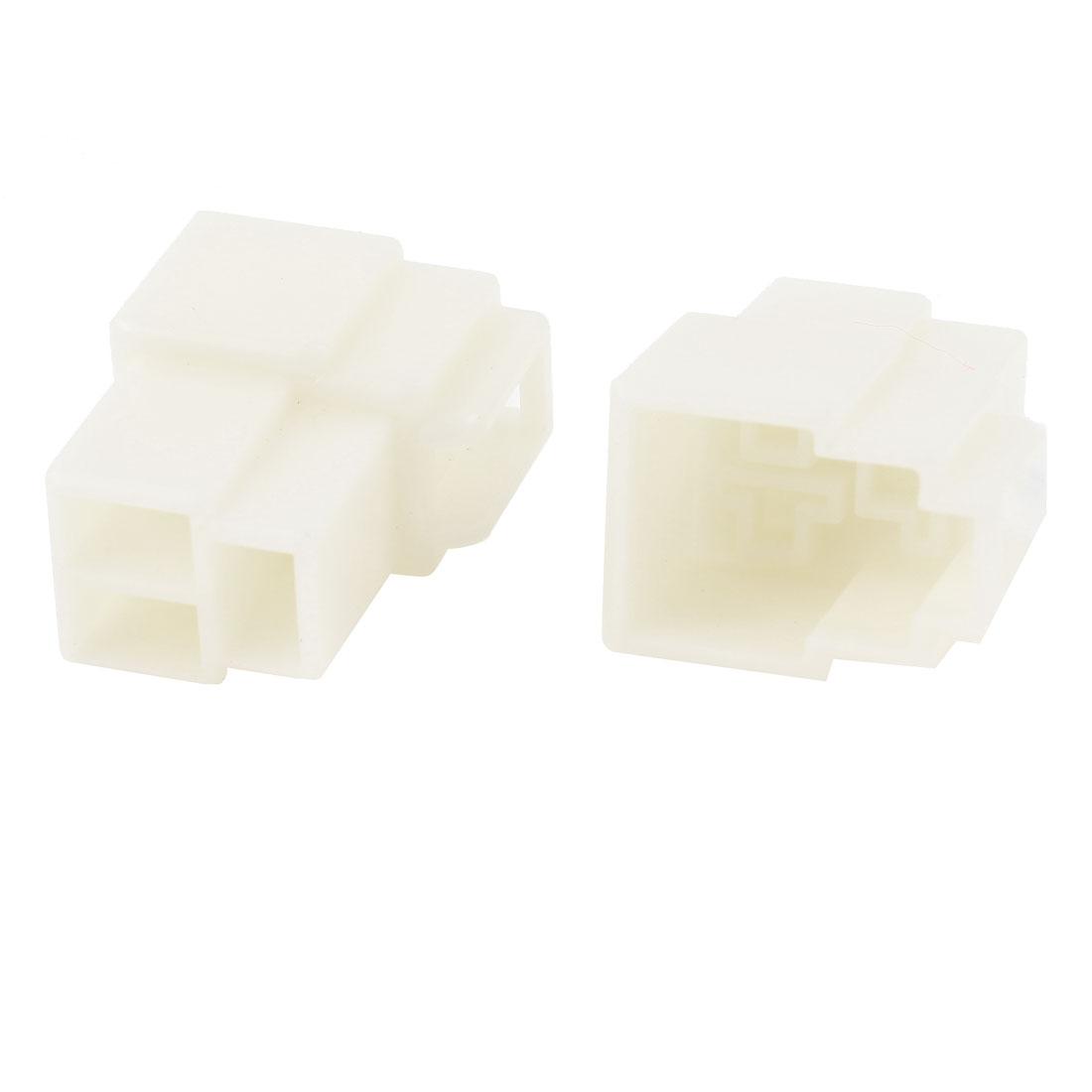 2 Pcs Plastic 3 Pin Female Slot Socket Car Auto PSU Supply ATX Connector