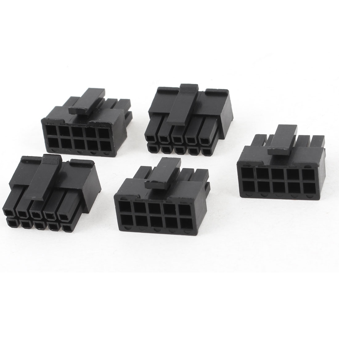 5 Pcs 10 Pin Male 3mm Pitch Slot Socket Car Auto PC PSU Power ATX Connector Black