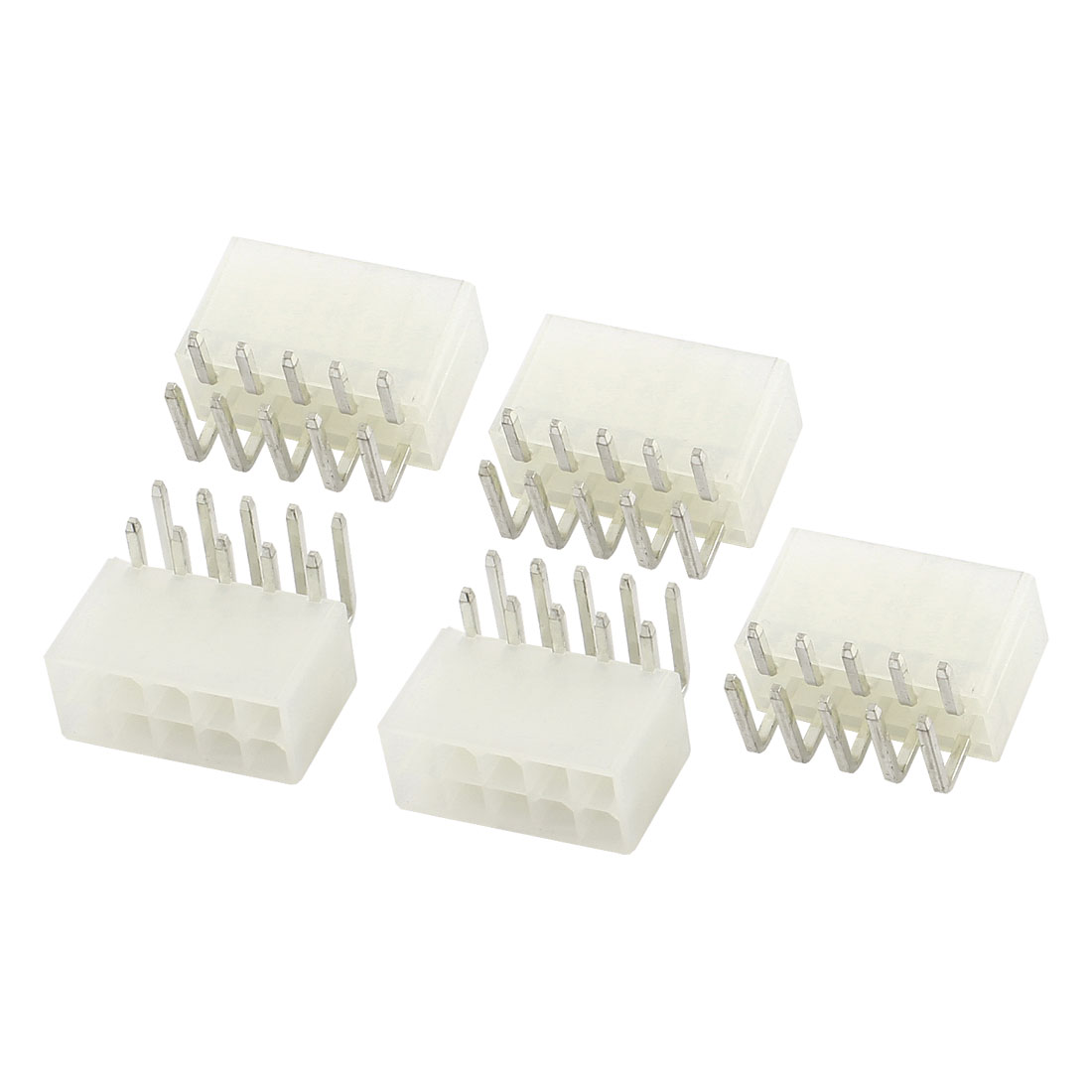 5 Pcs 10 Pin 90 Degree Terminal Power Supply PCB ATX Plug Connector Beige