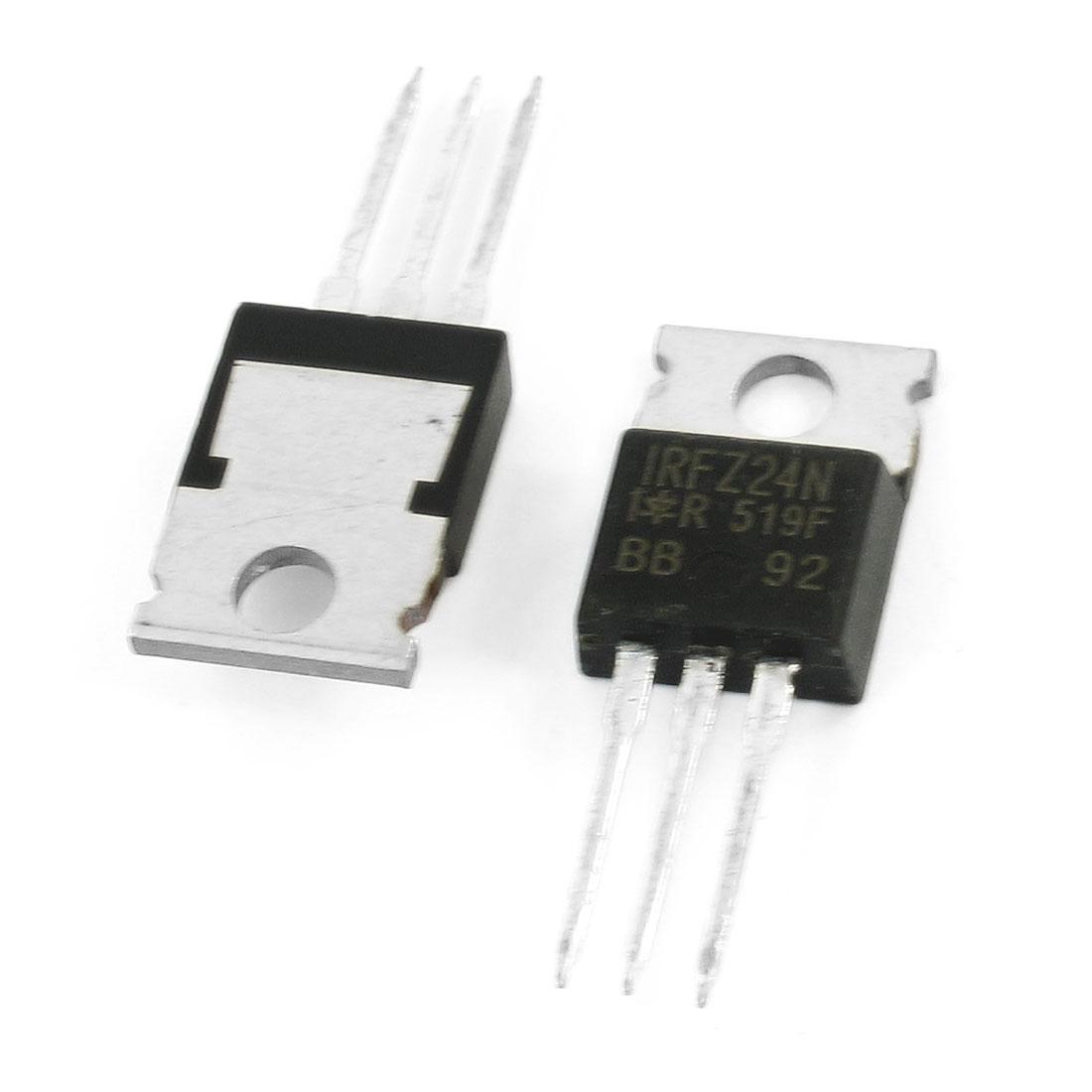 IRFZ24N 55V 17Amp 45W 3 Pole Semiconductor Silicon Transistor 2 Pcs