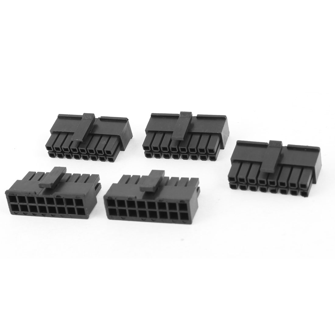 5 Pcs 16 Pin Male Slot 3mm Pitch PSU PCB Board Car ATX Connector Black