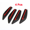 4 Pcs Auto Car Black Red Rubber Front Rear Door Protector Stickers