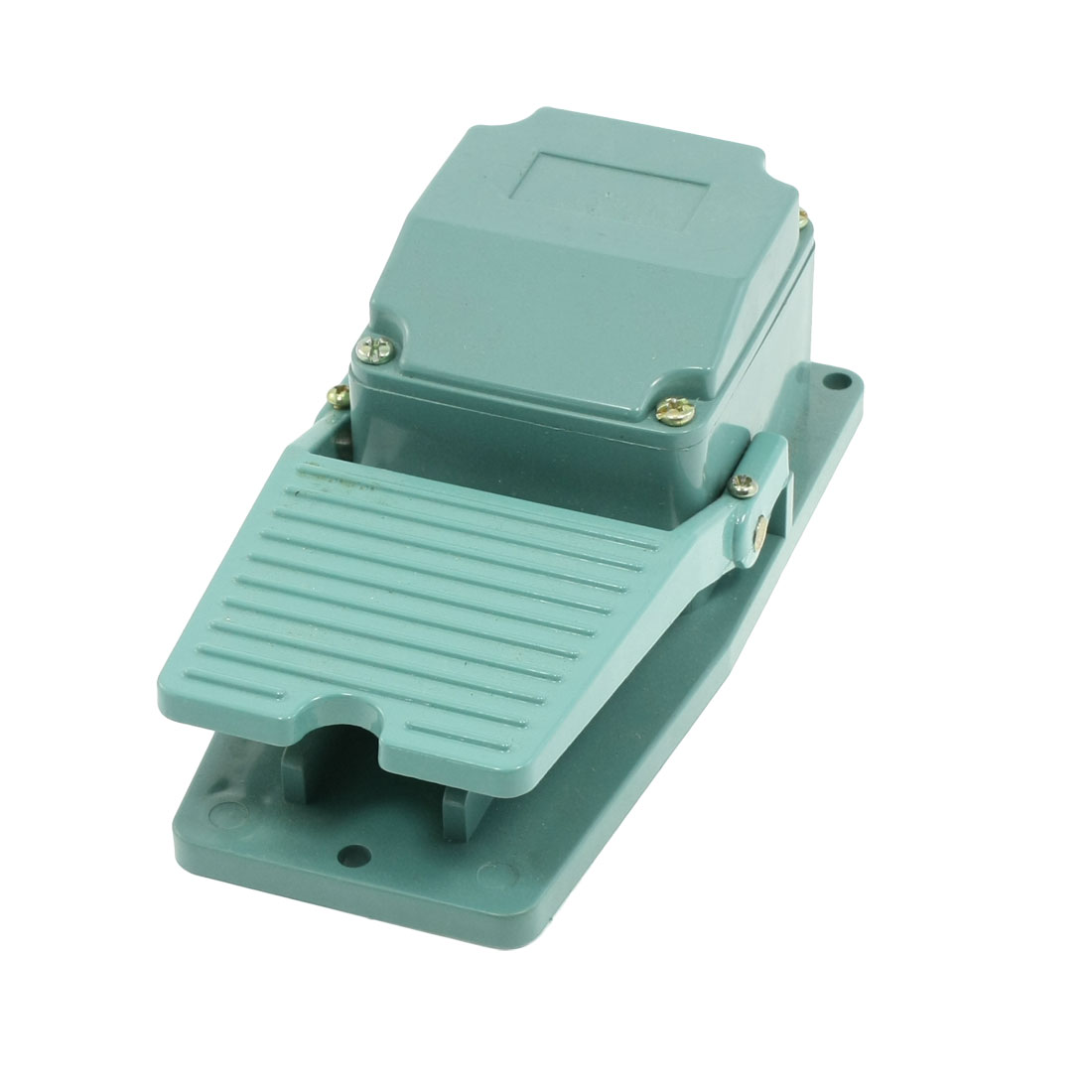 AC 250V 15A Green Antislip Metal Momentary Industrial Foot Pedal Switch Footswitch
